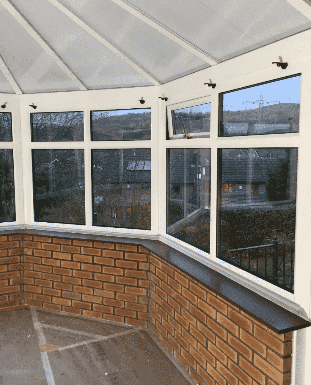 Interior Painting Conservatory Blue Glass