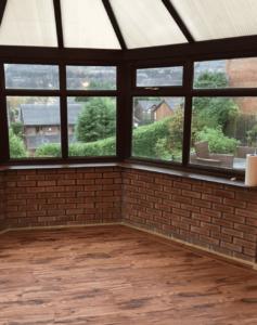 spraying a upvc conservatory interior