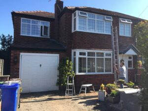 upvc windows spraying in manchester