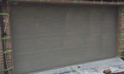 Spraying Garage Doors