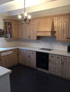 pine kitchen cupboards spraying transformation