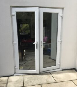 spraying upvc patio doors