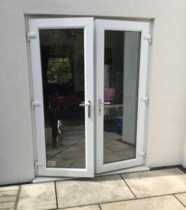 spraying upvc patio doors