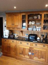 pine kitchen units spraying transformation