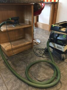 electric dust free sanding
