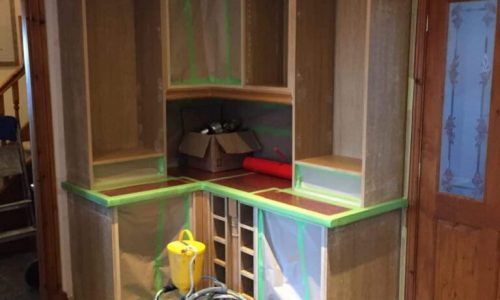 Spraying Kitchen Cabinets In Burnley