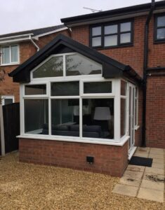 UPVC conservatory spraying
