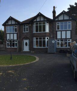 spraying upvc windows in alderley edge cheshire from white to window grey ral 7040
