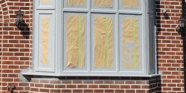 spraying white upvc windows grey alderley edge
