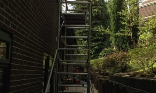 Spraying All The Exterior UPVC On A House In Tottington
