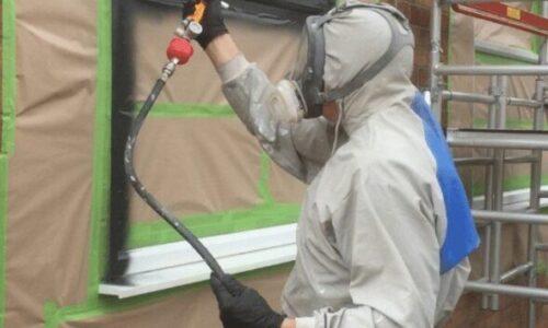 Can you spray paint white UPVC windows grey