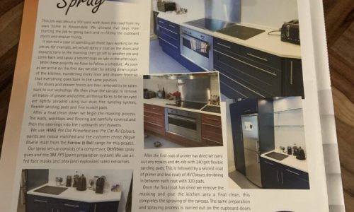 Spraying Kitchen Cupboards Hague Blue In Rossendale