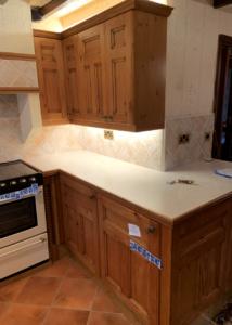 pine kitchen cupboard sprayers in walmersley bury lancashire