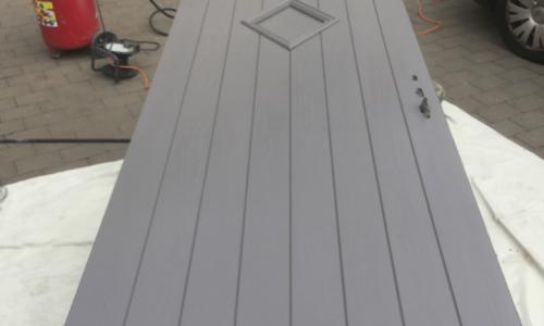 Spraying Composite Doors
