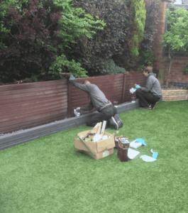 spraying faded upvc fence panels bury lancashire