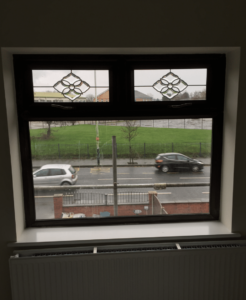 spraying upvc windows inside