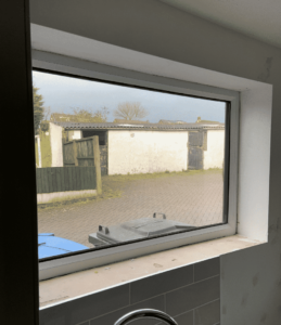 spraying interior UPVC windows