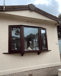 spraying upvc windows on a static park home