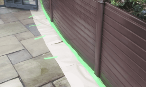 Spraying Faded UPVC Fence Panels