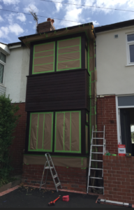 how can you spray paint upvc cladding