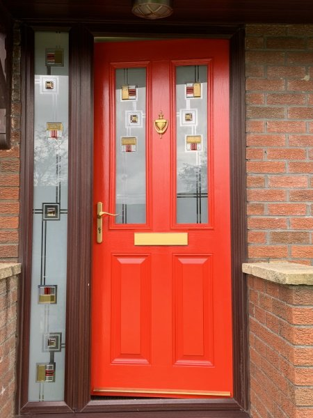 can you paint composite external front doors
