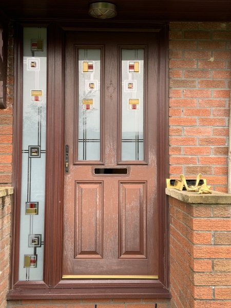 can you spray a faded composite door