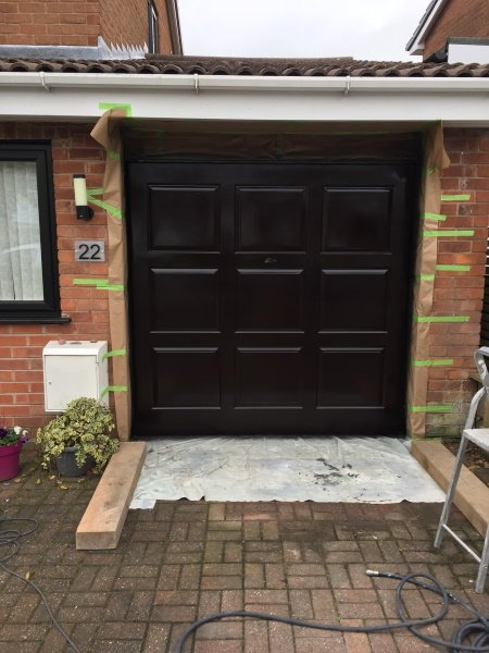 garage door spraying service near me