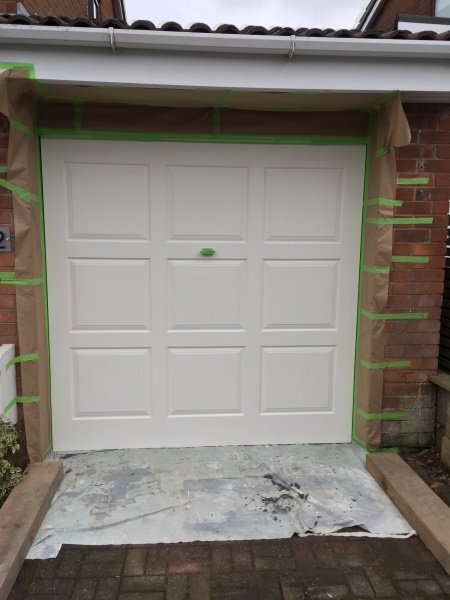 painting upvc composite garage doors