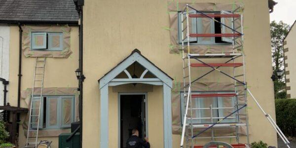 spraying upvc windows in longridge