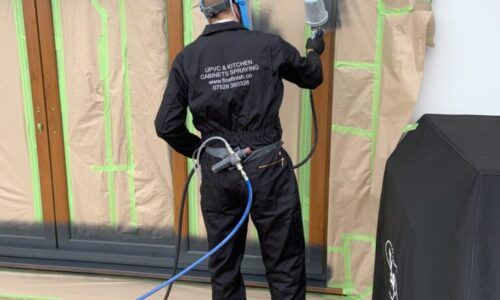 Spraying UPVC Doors And Windows In Lancaster