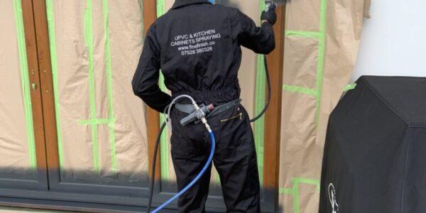 spraying upvc doors and windows in lancaster lancashire