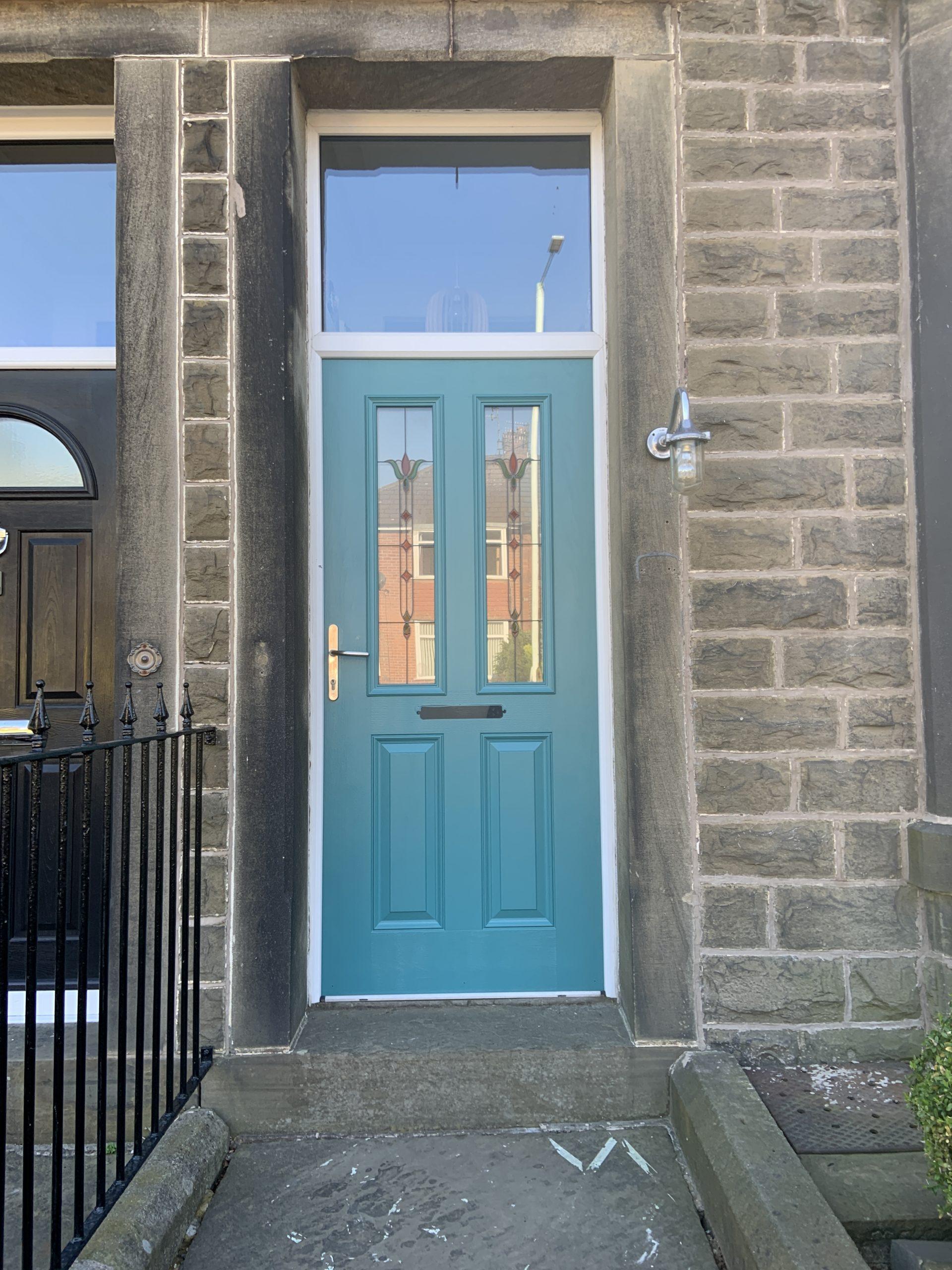 faded composite door spraying in lancashire